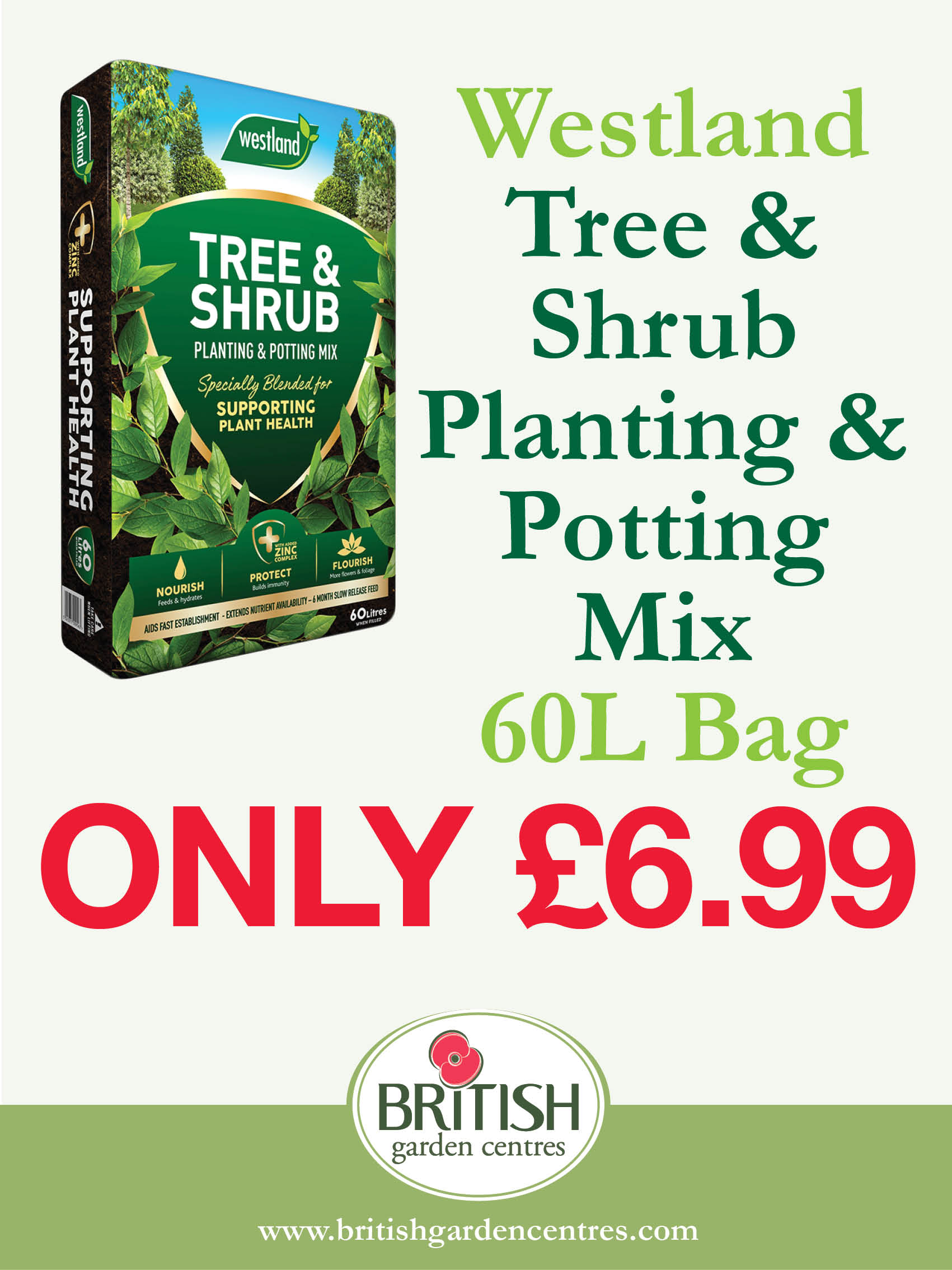 Tree and Shrub Planting & Potting Mix 60L