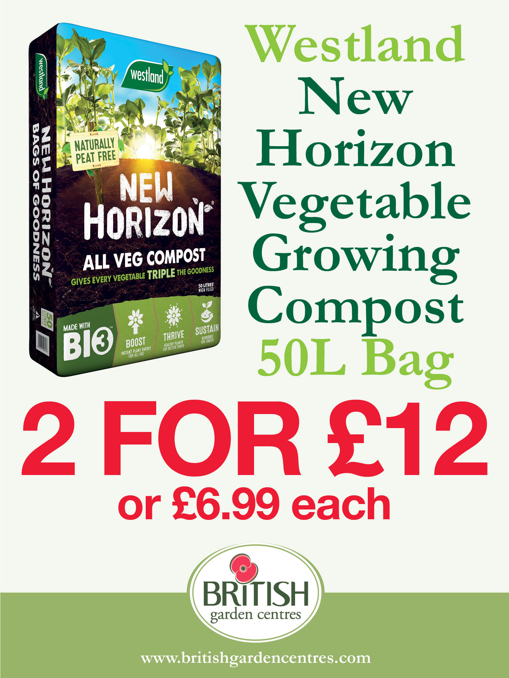 New Horizon Vegetable Growing Compost