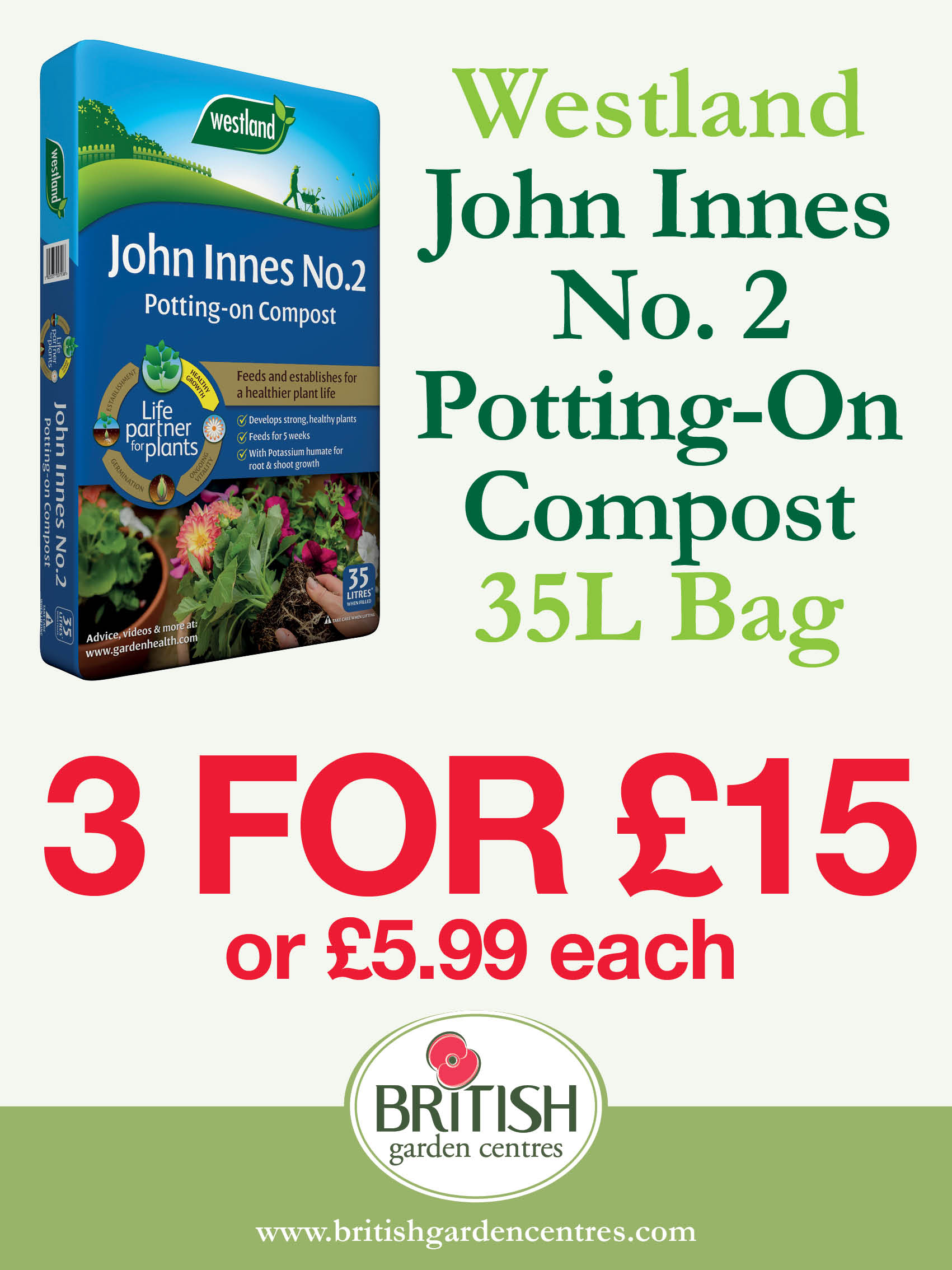 John Innes No.2 Potting On Compost 35L