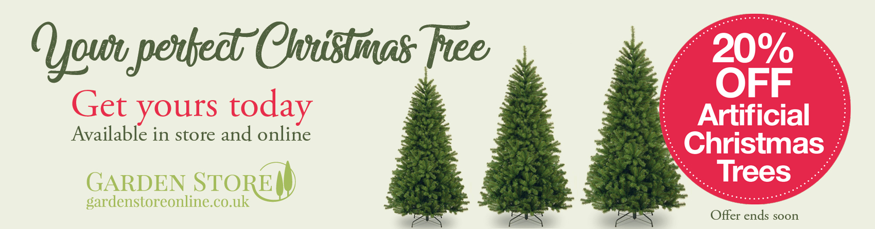 20% OFF Artificial Christmas Trees