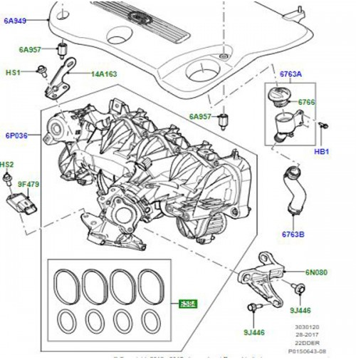 GASKET KIT INLET MANIFOLD LR005364