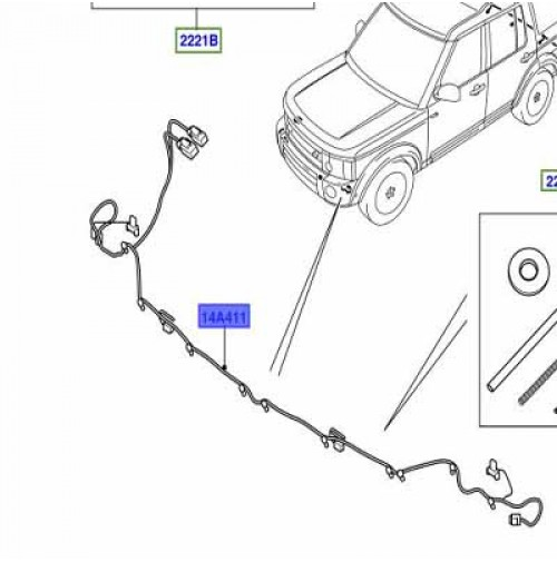 WIRE LOCATED IN FRONT BUMPER LR062205