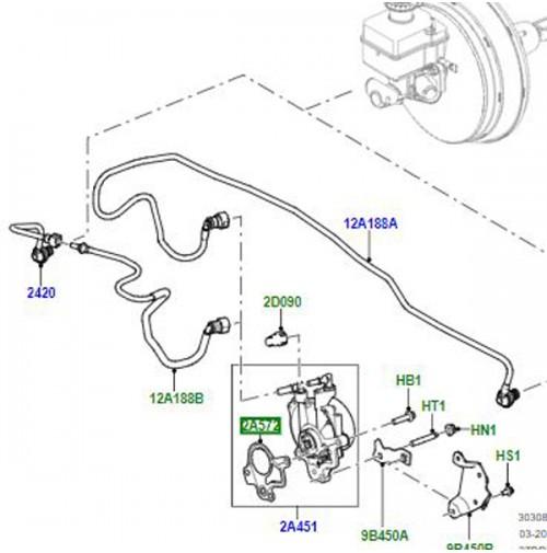 2013 Range Rover Evoque Vacuum Pump