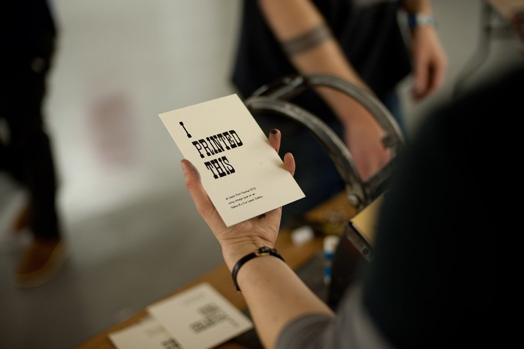 Letterpress Courses, Tuition and Workshops