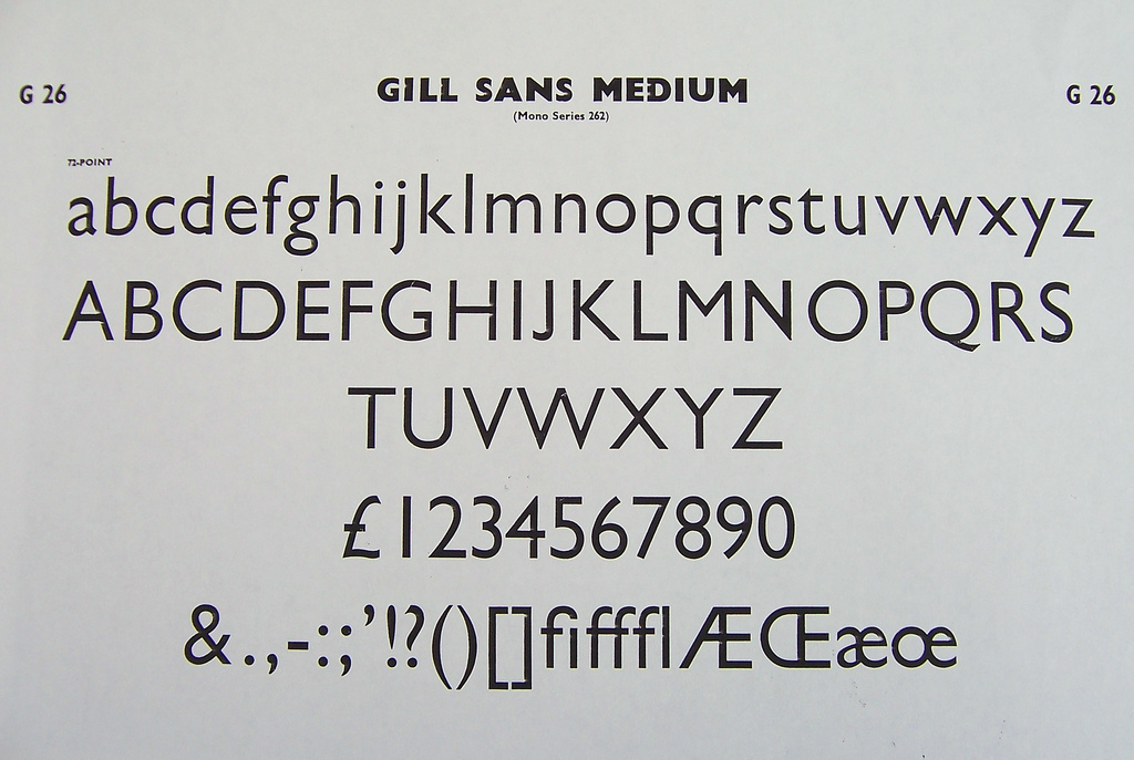 You Need the Gill Sans Ensemble!