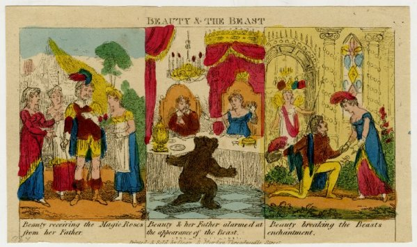 George Cruikshank, Beauty & the Beast. 1820. Published by Dean & Munday.