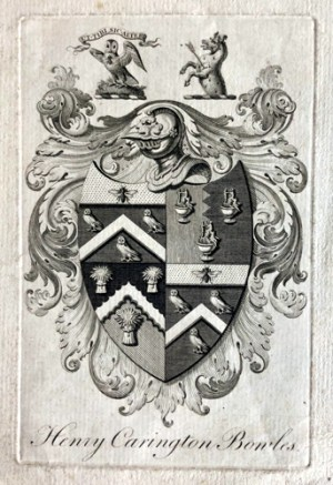 Bookplate of Henry Carington Bowles, engraved by Benjamin Baker (BME 2011) or one of his family. Courtesy of the Baker family archive.