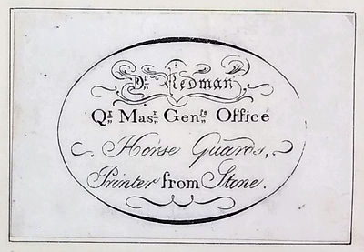 Redman's trade-card of about 1810. © The Trustees of the British Museum. Museum No. 1874, 0711.1075.