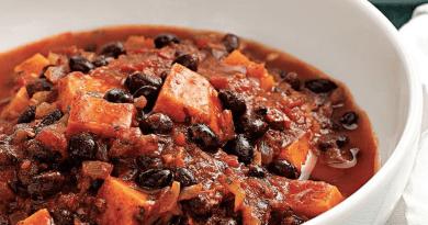 Black bean and mushroom chili – vegan