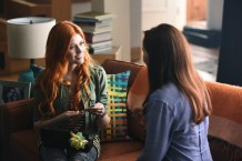"""SHADOWHUNTERS - """"The Mortal Cup"""" - One young woman realizes how dark the city can really be when she learns the truth about her past in the series premiere of """"Shadowhunters"""" on Tuesday, January 12th at 9:00 - 10:00 PM ET/PT. ABC Family is becoming Freeform in January 2016. Based on the bestselling young adult fantasy book series The Mortal Instruments by Cassandra Clare, """"Shadowhunters"""" follows Clary Fray, who finds out on her birthday that she is not who she thinks she is but rather comes from a long line of Shadowhunters - human-angel hybrids who hunt down demons. Now thrown into the world of demon hunting after her mother is kidnapped, Clary must rely on the mysterious Jace and his fellow Shadowhunters Isabelle and Alec to navigate this new dark world. With her best friend Simon in tow, Clary must now live among faeries, warlocks, vampires and werewolves to find answers that could help her find her mother. Nothing is as it seems, including her close family friend Luke who knows more than he is letting on, as well as the enigmatic warlock Magnus Bane who could hold the key to unlocking Clary's past. (ABC Family/John Medland) KATHERINE MCNAMARA, MAXIM ROY"""