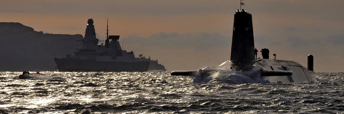 HMS Vanguard at Faslane naval base