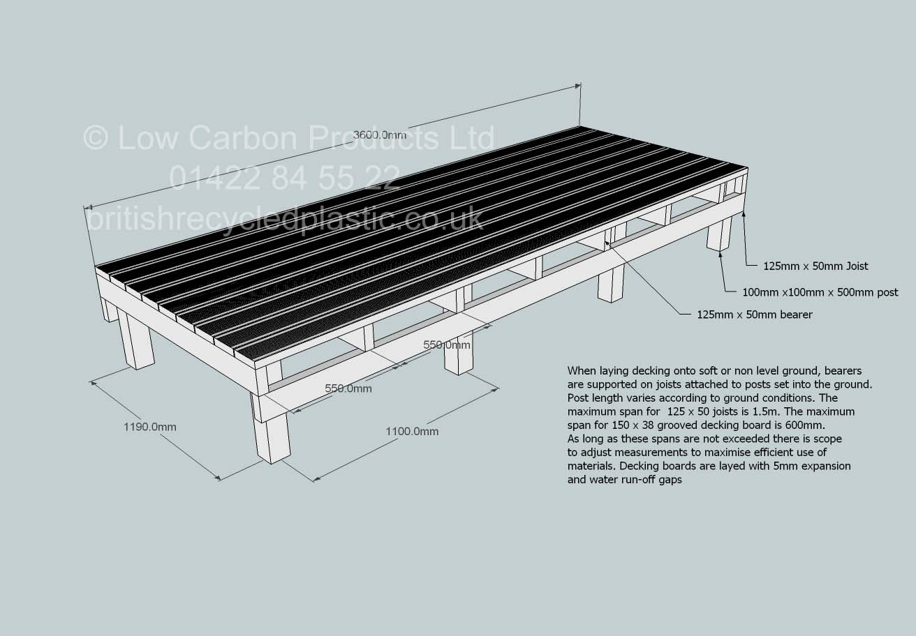 Recycled plastic boardwalk and decking drawings