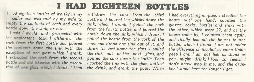 Eighteen bottles