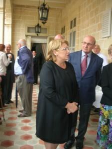 2015.5.18 - President of Malta & her husband Edgar Preca