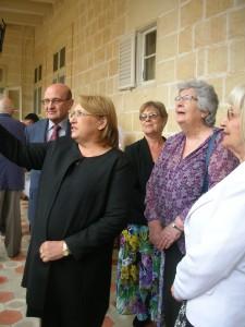 2015.5.18 - President of Malta with Mavis Bond (2)