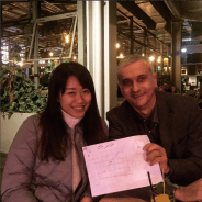 Vivien meets Gabor Domokos in Berlin