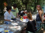 Fresco painting workshop. Photo by Stephen Kay.