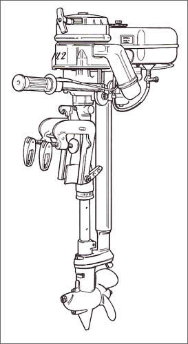 British Seagull 45 Featherweight 2-HP Outboard Boat Motor