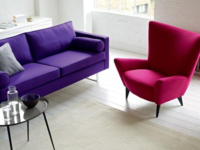 59th Street 2-Seater Sofa by Conran (purple)