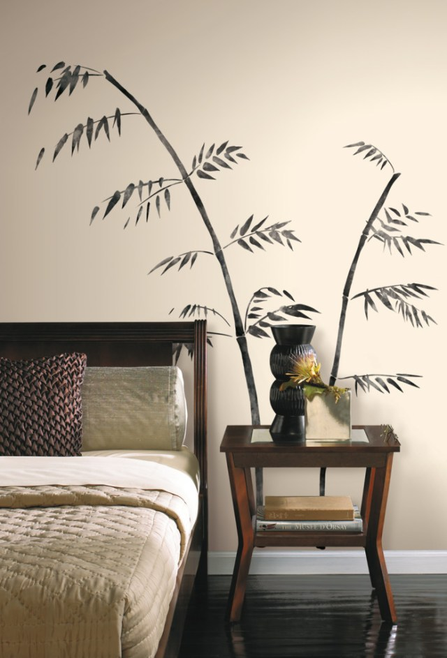 Becky and Lolo Painted Bamboo Giant Wall Decals