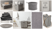 Grey bathroom accessories
