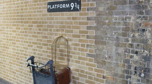Platform 9/34 location - Harry Potter London Tour