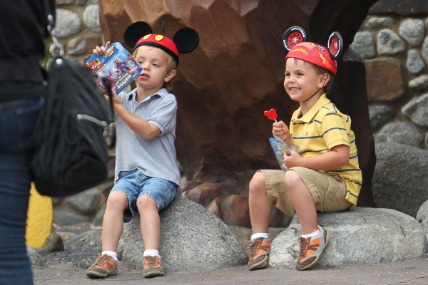 Britney spears's children Jayden james and Sean Preston spend the mothers day weekend together at Disney Land. The kids are taken around the amusement park alone by the Bodyguard, Nanny and Disney tour guide as Britney stays out of sight Los Angeles, USA - 09.05.10 Mandatory Credit: WOT/WENN.com