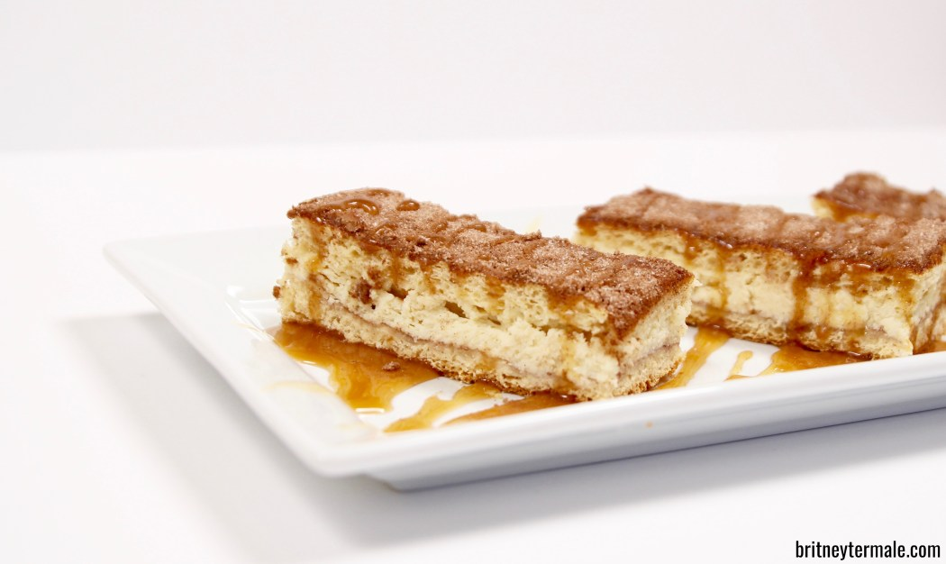 Caramel Churro Cheesecake Bars