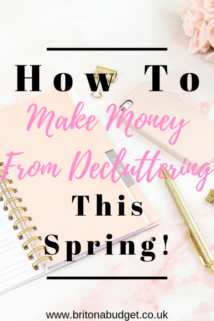 How to make money from decluttering this spring pinterest
