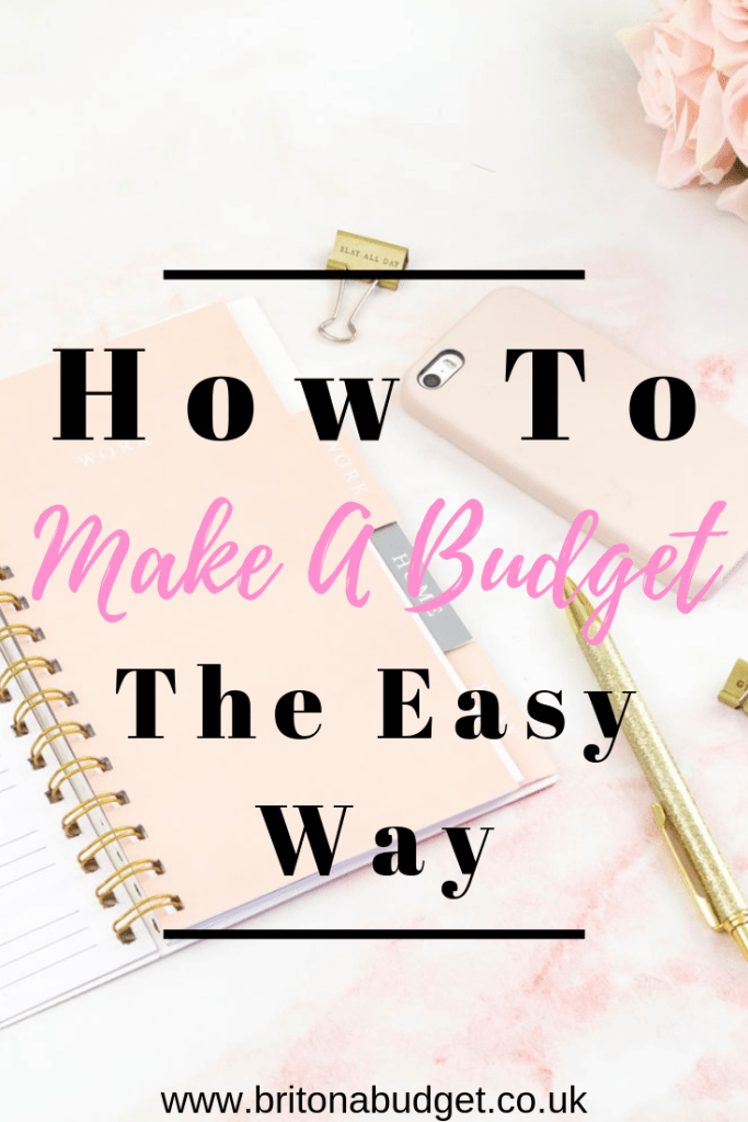 How to make a budget the easy way