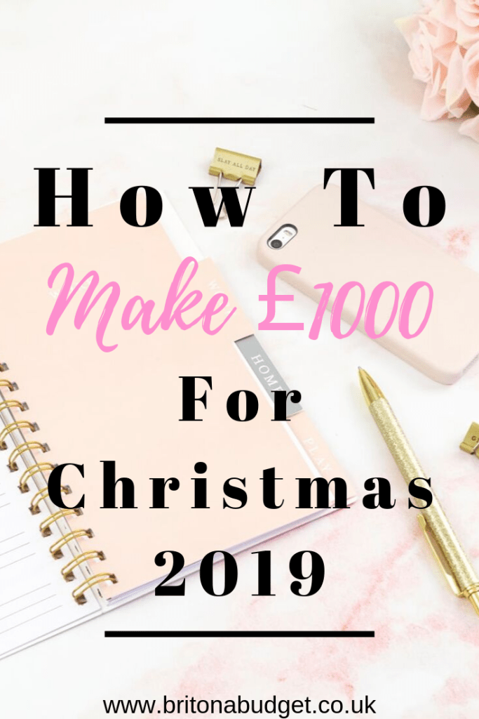 how to make £1000 before christmas