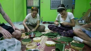 Making our Krathongs!