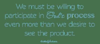 product vs process