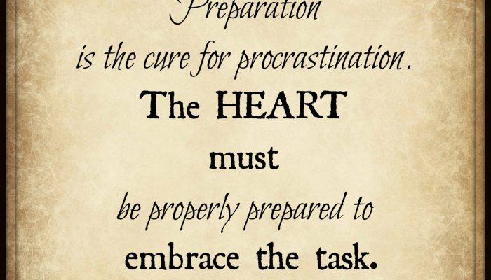 Procrastination…