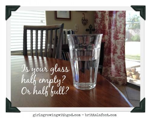 glass half