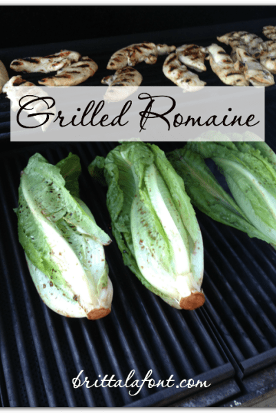 31 Days to #ASimplerJoy: Grilled Romaine