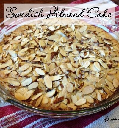 31 Days to #ASimplerJoy: Swedish Almond Cake