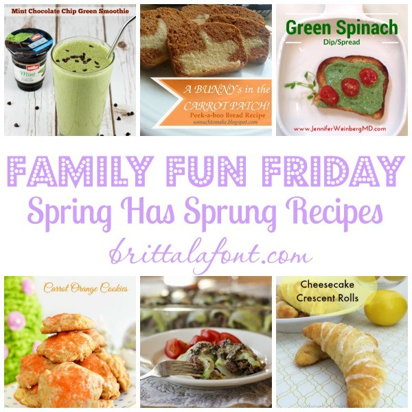 Spring Recipes for Family Fun FridayMarch19