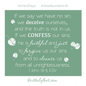 October 9 - Confession and Reconciliation