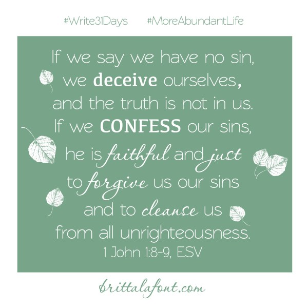 Confess 31Days