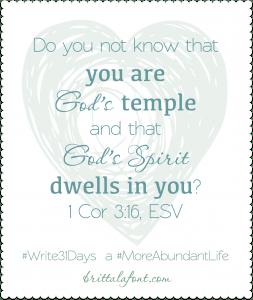 God's Temple #Write31Days