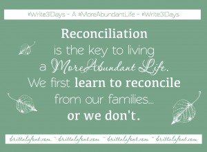Reconciliation Day 7