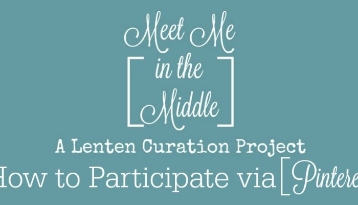 Meet Me in the Middle Project (the Pinterest How to)