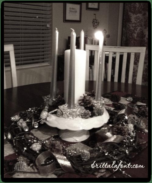 Advent wreath BW