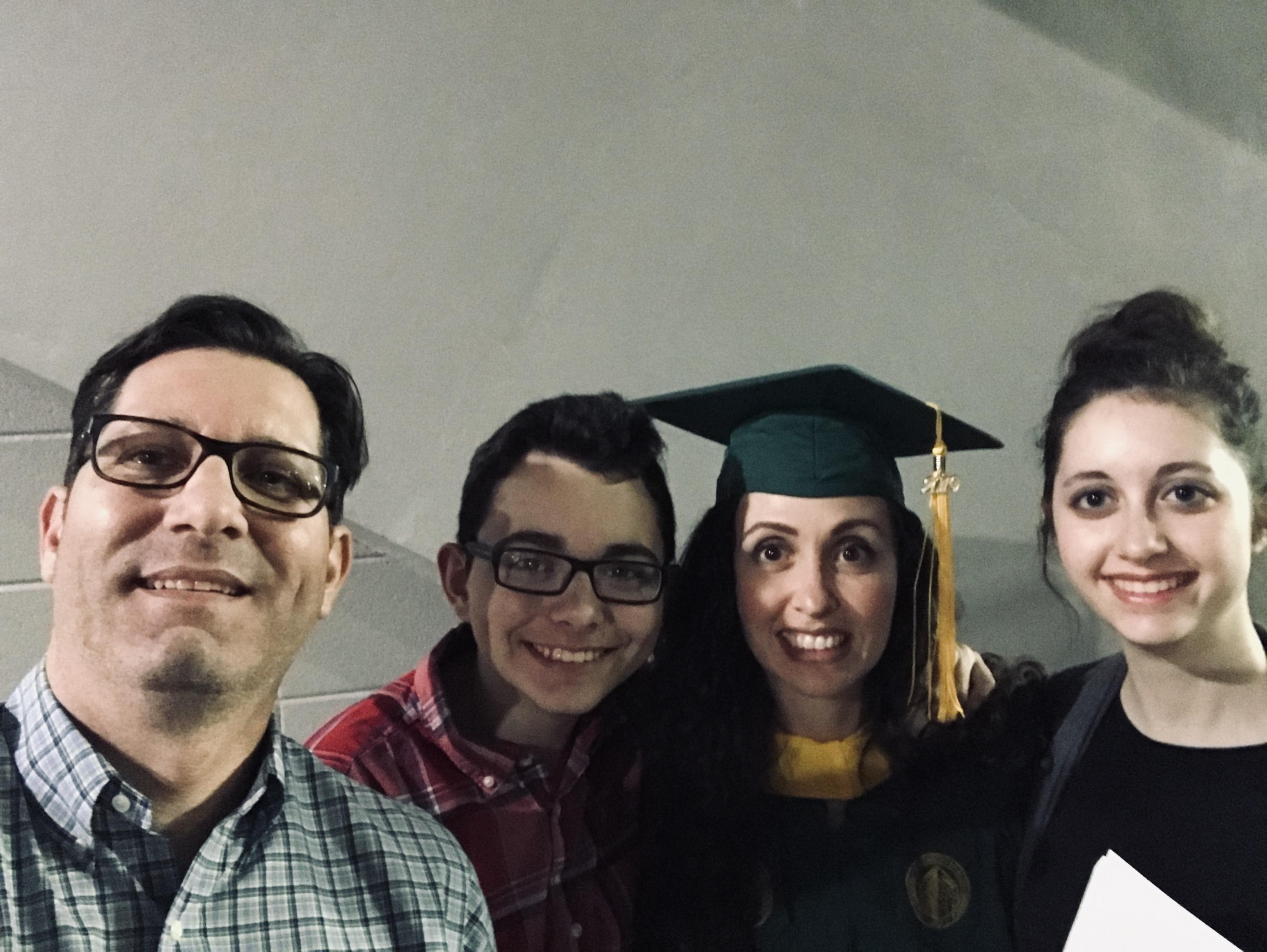 family graduation pic
