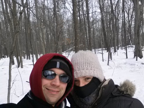a frigid walk (-10 degrees!) at Canyon Road Inn