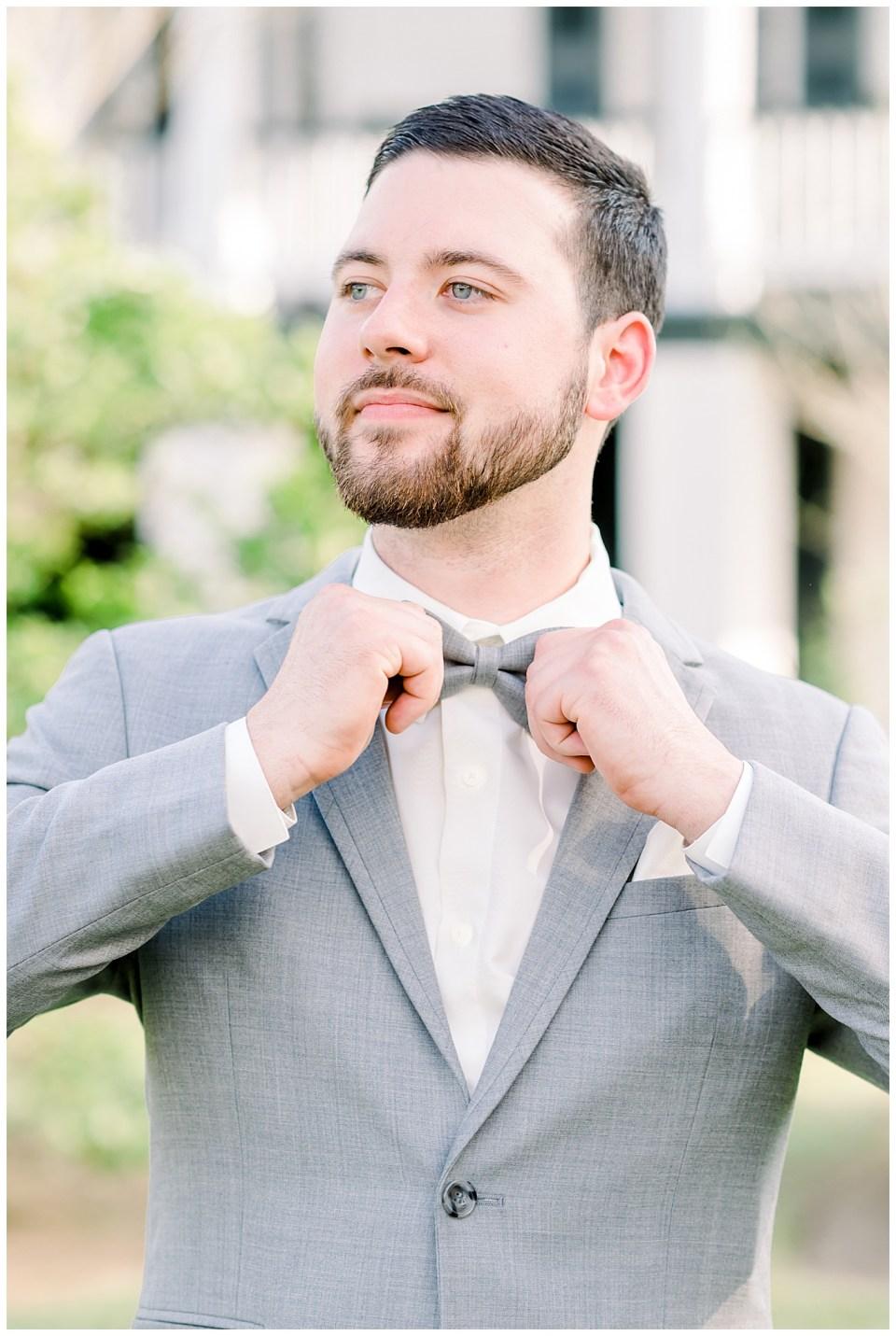 groom wedding day portrait