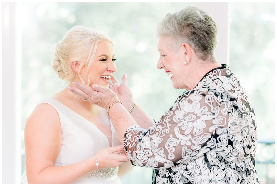 bride and grandma on wedding day