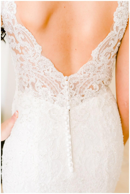 bridal dress back details