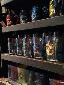 Glasses and cups in the gift shop.